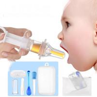 BABY HEALTH SET KIT MEDICINE PAD SENDOK SIKAT LIDAH TWEEZER BPA FREE - Biru