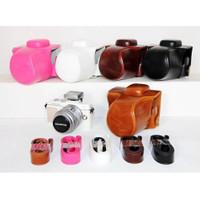 Tas Kamera Soft Case Kulit PU Untuk Olympus Pen e-pl7 e-pl8 epl7