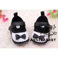 Ddh-high Sepatu Prewalker Motif Polkadot Aksen Pita untuk Bayi