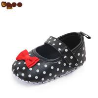 Sepatu Motif Polkadot Bahan Kulit Pu Untuk Bayi 0-18 Bulan