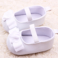 Baby Girl Kids Cute Ribbon Flower Soft Sole Crib Shoes