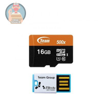 LIMITED - Team MicroSD 16GB UHS-1 PLUS Card Reader Speed 500x 80 Mbps