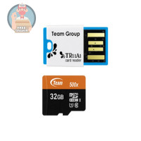LIMITED - Team MicroSD 32GB UHS-1 PLUS Card Reader Speed 500x 80 Mbps