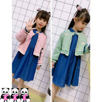 TERLARIS Dress Two-Piece Anak Tanggung Motif Cardigan Shanghai AJ001