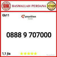Nomor Cantik Smartfren 11 digit Triple 000 0888 9 707000 bg11