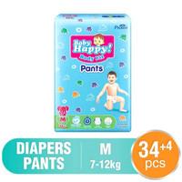 Popok Sekali Pakai Baby Happy Pants M 34 + 4 Pampers Murah