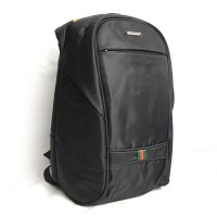 Tas Pria Backpack Polo Summer warna Hitam Rain cover Anti Maling