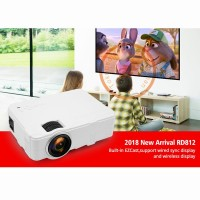 Projector RD812 Built In Ezcast Support Wired Sync Display & Wirele