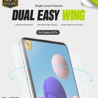 Ringke Galaxy A21S DualEasyWing Full Screen Protector Anti Gores 2 pcs