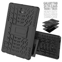 Samsung Galaxy Tab S4 10.5 T835 - Heavy Duty Rugged Armor Stand Case