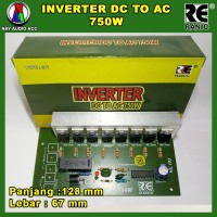 Kit inverter 12V DC to AC 220V 750 watt