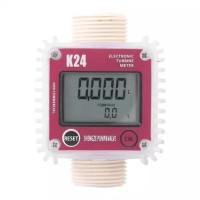 Digital LCD K24 Flow Meter Turbine Fuel 1 inch for Chemical Liquid