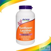 NOW FOODS SUNFLOWER LECITHIN , 1200MG 200SOFTGELS
