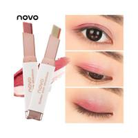 COD& Free Gift Novo Eyeshadow Stick Kosmetik Makeup Dua Warna Matte