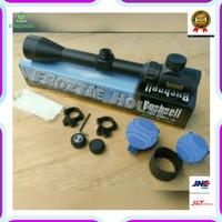 Promo Telescope Bushnell 3-940 EG Mildot Flip biru Limited