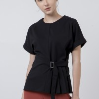 The Executive Short Sleeves Blouse 5-BSKKEY120D031 Black