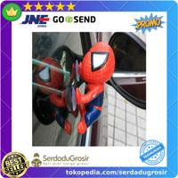 JWDAWN Miniatur Action Figure Kaca Mobil Window Sucker Spiderman -