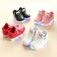 ✨✨Kids girls sports shoes Bayi Anak Perempuan LED Luminous