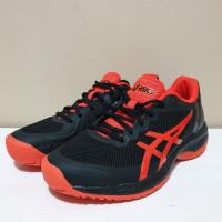Sepatu Tenis Asics Gel-Court Speed - Black/Cherry Tomato