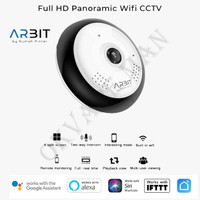 ARBIT - Wifi CCTV Fisheye Panoramic 1080P 2MP Storage up Best Selling