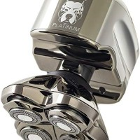 Skull Shaver Pitbull Platinum PRO Electric Razor - Wet/Dry 4 Head 4d C