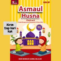 Flashcard Asmaul Husna KONSEP Kartu Islam Mainan Edukasi Anak PAUD