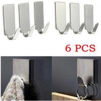 Gantungan Serba Guna Adhesive 6 PCS / gantungan kunci baju - DWC13F