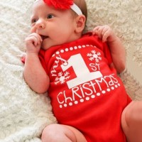 Cute Baby Red Christmas Pattern Style Active Baby Romper&Jumpsuit