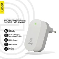 UNEED Smart Travel Charger Fast Charging Dual USB Port UCH111 Putih