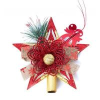 Hiasan Top Bintang Pohon Natal 3 PILIHAN WARNA - Pucuk Pohon Natal