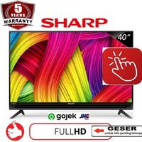 SHARP LED TV 40 Inch - 40LE185 - Hitam - garansi RESMI- harga TERMURAH