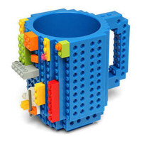 VKTECH Gelas Mug Lego Build-on Brick - 936SN - Blue