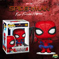 Funko POP! Spider Man Far From Home - SpiderMan Hero Suit Peace Selfie