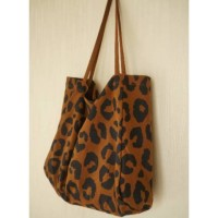 BMD Nudie bag motif leopard & messy // totebag magnet