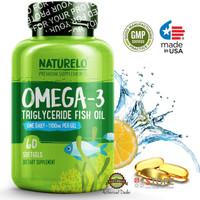 NATURELO - Premium Omega-3 Fish Oil - 1100 mg Triglyceride Omega 3