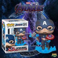 Funko POP! Avengers - Captain America with Broken Shield and Mjolnir