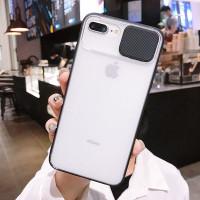 Case Iphone 6 Plus 7 Plus 8 Plus Hardcase Pelindung kamera Slide Dove - IPHONE 6 PLUS, Hitam
