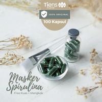 Masker Spirulina Tiens   Masker Jerawat   Kulit Cerah   Isi 100 Kapsul