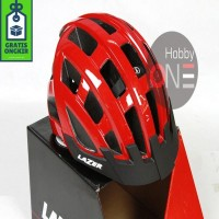 LAZER HELMET COMPACT RED UNISIZE 54-61Cm Asian Fit CE Helm Sepeda