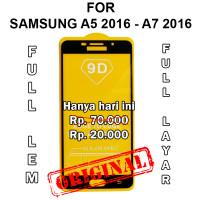 Tempered glass 5D Samsung A5 A7 2016 A510 A710 anti gores full layar