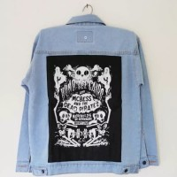 Jaket Jeans Gambar Dead Pirates