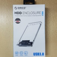 HDD enclosure transparan 2.5 usb 3.0