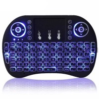 Taffware Air Mouse Wireless Mini Keyboard RGB 2.4GHz Touch Pad - I8