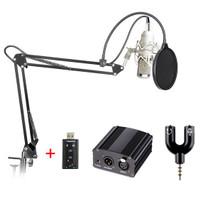 TaffSTUDIO BM-800 Paket Smule Condenser Microphone + Scissor Arm Stand