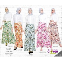 Skirt Isyana by Clover Clothing Rok Muslim Rok Payung Motif