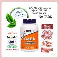 NOW FOODS GABA 500 MG 100 VEG CAP NOW GABA NOW FOOD GABA ORI USA