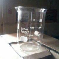 beaker glass 5000ml Gelas kimia 5000ml pyrex. sparepart