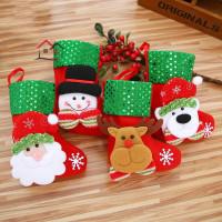 HYP Kaos Kaki Gantung Motif Santa Claus untuk Dekorasi Pohon Natal