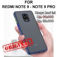 Frosted case Xiaomi Redmi Note 9 - 9 Pro Max 9s casing cover mika fuze - Note 9, Black