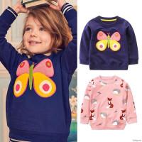 (PROMO) Sweater Kaos Casual Motif Print Bunga Kartun untuk Bayi /